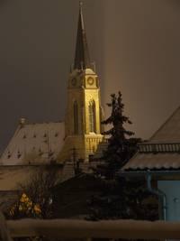Evangelische Stadtkirche im Winter
