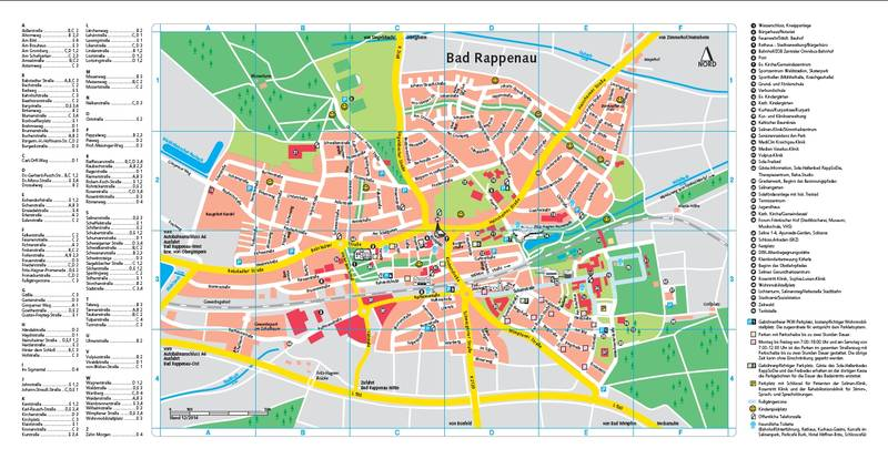Heilbronn Karte Stadtplan.Stadtplan Bad Rappenau
